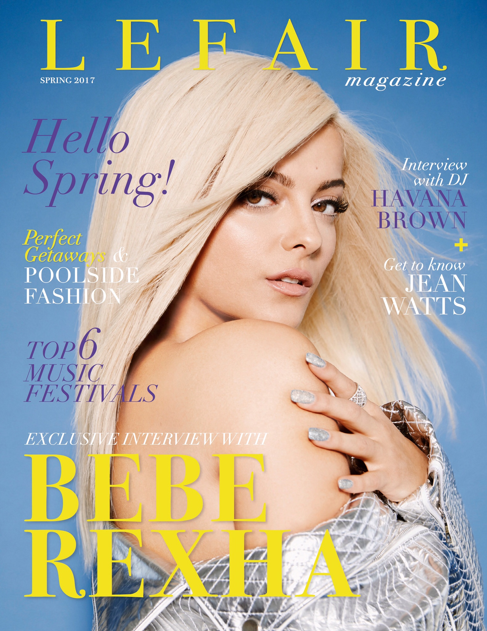 Lefair Magazine Spring Issue Cover Bebe Rexha