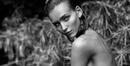 Rachel Cook black and white organic beauty Lefair Magazine 2016
