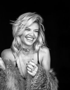 Chanel West Coast black and white jewelry fur coat swimsuit laughing model Lefair Magazine 2016