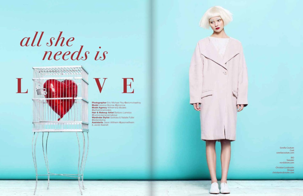 All She Needs is Love April Love Geary model Flower Power Lefair Magazine premier issue 2016